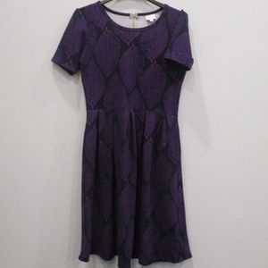 Lularoe Dress Size Large Black/Purple